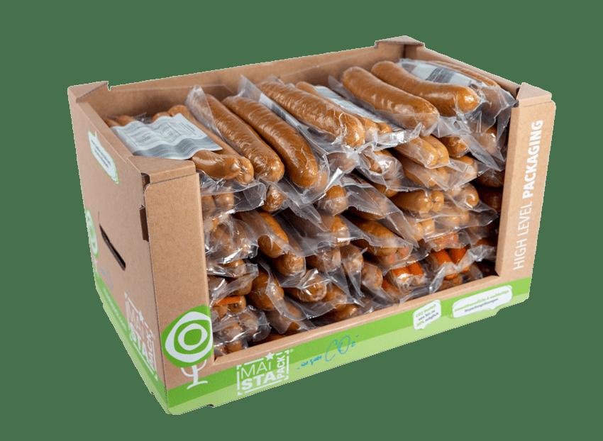 Nachhaltige Verpackung befüllt