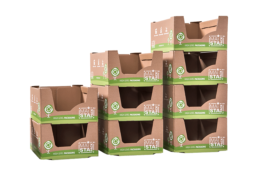 Maistapack Verpackung stabil gestapelt