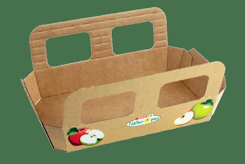 6er Apfelschale aus Karton