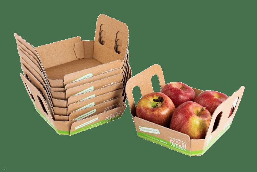 Papiertasse für Äpfel Nachhaltig
