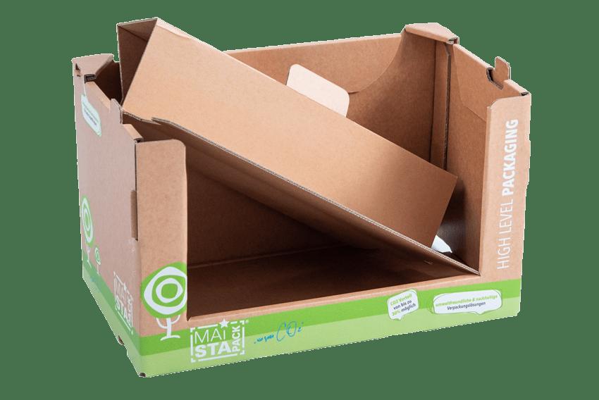 Handfalter Verpackung mit Einlegestufe