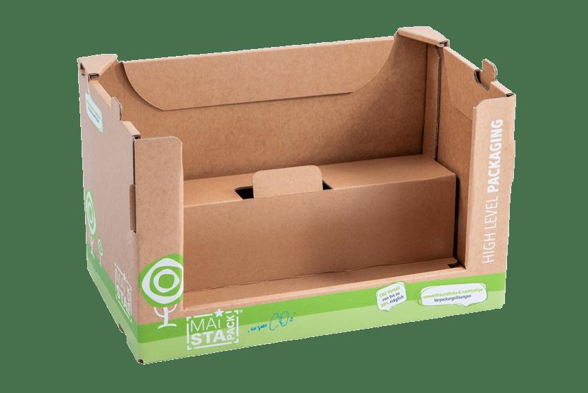 Verpackung mit Stufe