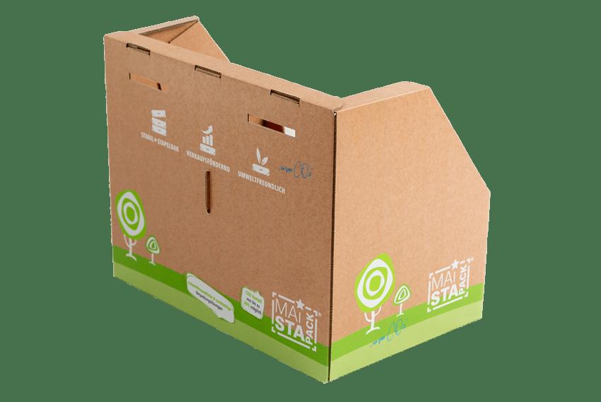 Nachhaltige Verpackung Ansicht Rückseite