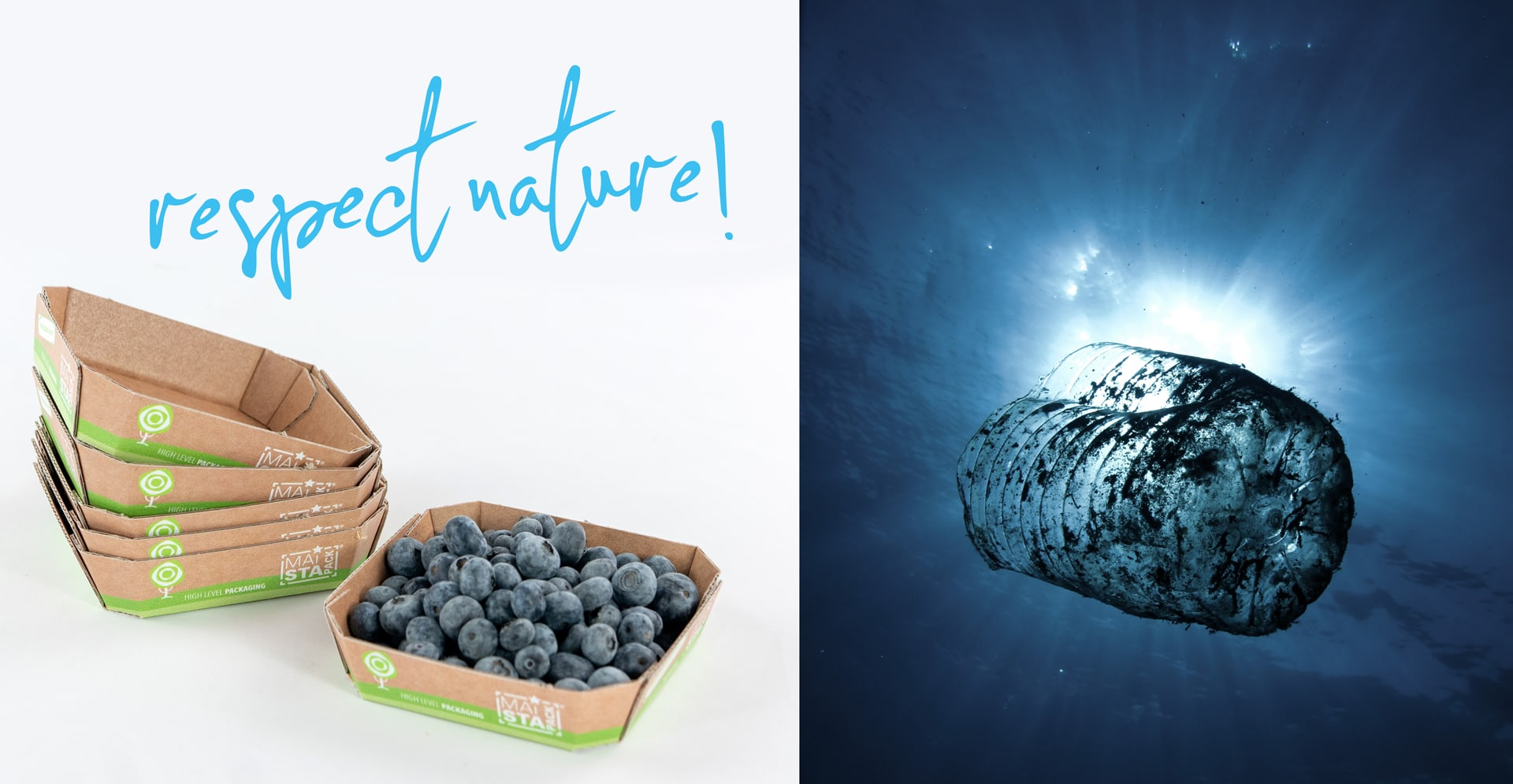 respect nature Karton statt Plastik