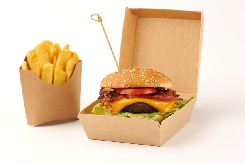 Burger Box Pomes frites Tasche