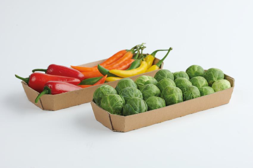 Gemüseschalen aus Karton