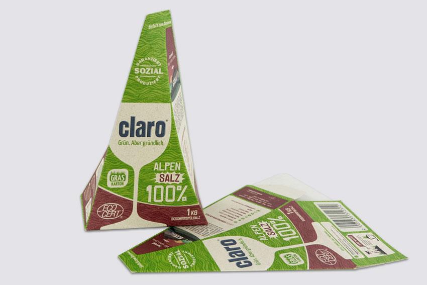 Vollpappe Graspapier Verpackung